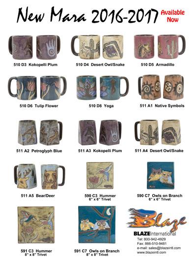 Blaze International   Exclusive Distributors of Mara & Padilla Stoneware